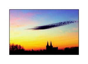 Xantener Dom bei Sonnenuntergang